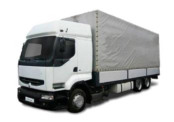 Грузоперевозки на Renault 10 тонн тент фото