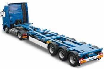 Грузоперевозки на площадке-контейнеровозе 20-28 тонн фото
