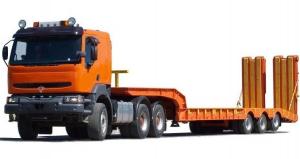 Грузоперевозки на Трал 40 тонн: раздвижной, прямой, 2 оси фото