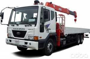 Грузоперевозки манипулятором Daewoo 5.5 тонн фото